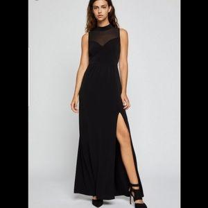 BCBG sheer maxi dress black